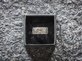 """Sennenring """"Ornament"""" - Silber glänzend"""