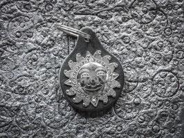 Schlüsselanhänger Sonne, Neusilber