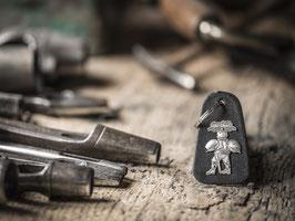 Schlüsselanhänger Silvesterchlaus, echtem Silber 925