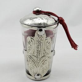 Kerze 'Hand der Fatima', Duftkerze ohne Stein