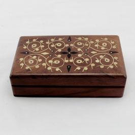 Schmuck-Kiste Red Cedar / Thuja mit Perlmutt