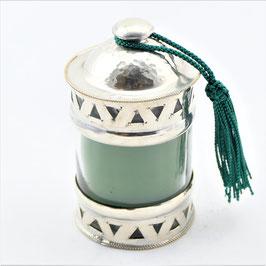 Kerze im Glas aus Alpaka