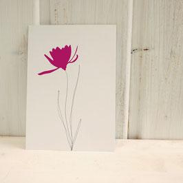 Postkarte / Klappkarte mit Blume