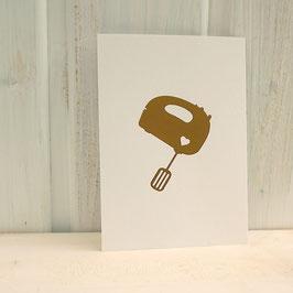Postkarte / Klappkarte mit Handrührgerät