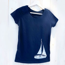 Damen T-Shirt mit Segelboot