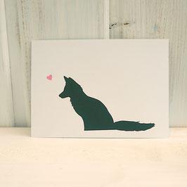 Postkarte / Klappkarte mit Fuchs
