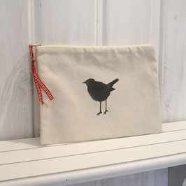 Kleine Tasche mit Vogel