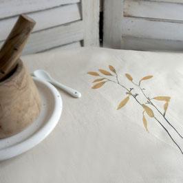 kleine Tischdecke mit Lorbeer-Illustration