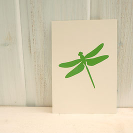 Postkarte / Klappkarte mit Libelle