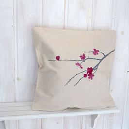 Kissenbezug mit Kirschblüte