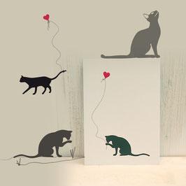 Kartenset Katzen