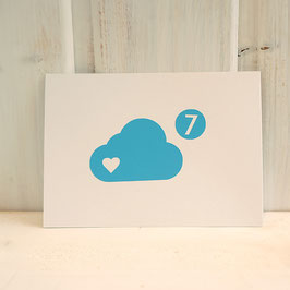 "Postkarte / Klappkarte ""Wolke 7"""