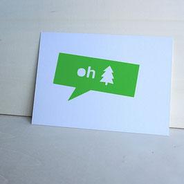 """Weihnachtskartekarte """"oh Tannenbaum"""""""