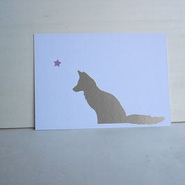 Weihnachtskarte mit Fuchs und Stern