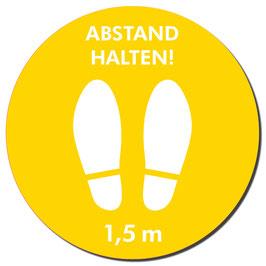 """Kleber """"Schuhe/Abstand Halten"""" 400mm orange"""