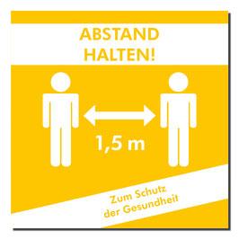 """Kleber """"Personen/Abstand halten"""" 400x400mm orange/weiß"""