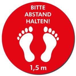 "Kleber ""Füße/Abstand halten"" 400mm   rot"