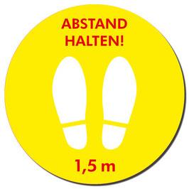 """Kleber """"Füße/Abstand halten"""" 400mm   gelb/rot"""