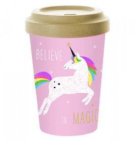 Bambusbecher Pink Unicorn