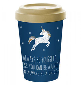 Bambusbecher Always Unicorn