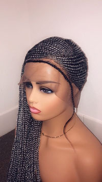 28 Inch Grey & Black Lemonade Braids