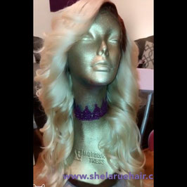 # 613 Blonde Frontal Unit - Middle Part or Side Part