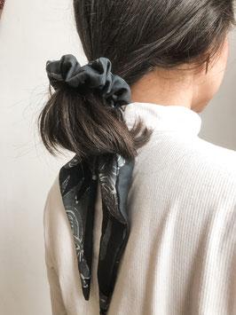 Batiktuk Scarf Scrunchie - black space