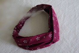 Hairband Bunga Titik in ruby