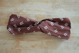 Headband ENAM TITIK in brown