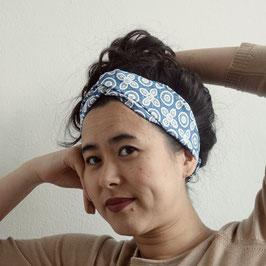 Hairband Bunga ceplok grompol in blue