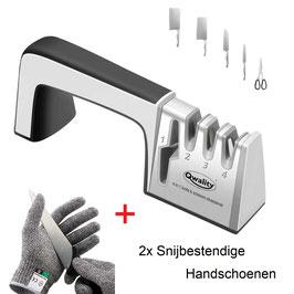 Messenslijper + 2x Snijbestendige handschoenen