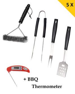 Tang, Spatel, Vork, Borstel, Thermometer