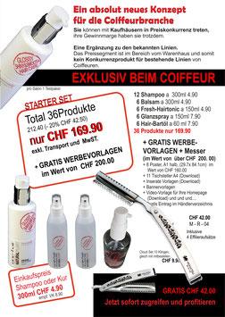 STARTER SET 36 Produkte und GRATIS Razor
