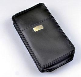Werkzeugtasche leer schwarz, Leder, S-400