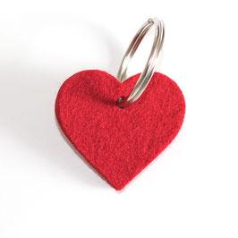 Herz, Schlüsselanhänger aus Wollfilz