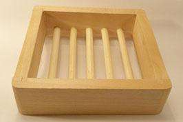 Quadratische Seifenschale aus Holz