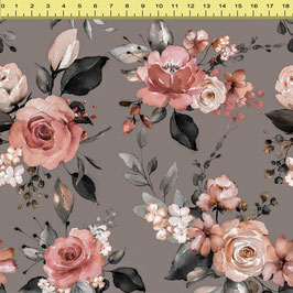 "Vorbestellung ""Lovely roses taupe"" Eigenproduktion Softshell"