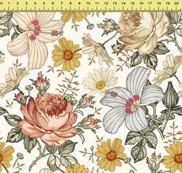 """Vorbestellung """"Vintage Flower senf"""" Eigenproduktion Sommersweat"""