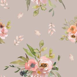 """Vorbestellung """"Flower taupe"""" Eigenproduktion Softshell"""