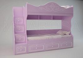 Кровать двухъярусная Ромео RM-05, левая