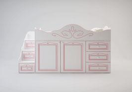 Кровать чердак с рабочей зоной Ромео малый RM-03 левый