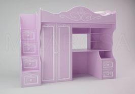 Кровать-чердак Ромео большой RM-04, левый