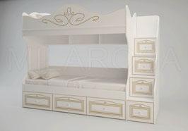Кровать двухъярусная Ромео RM-05, правая