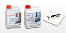 "PFLEGESET ""CLEANER"" + ""POLISH"" inkl. Treppentuch"