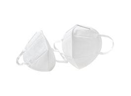 Eine Packung à 10 Stück FFP2 Faltmaske zertifiziert nach EN 149