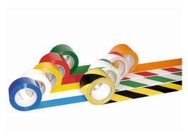 2 Stück Bodenmarkierungsbänder 50 mm B x 33 m L selbstklebend