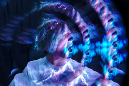 18:00 Light Painting Portraits mit Glasfasern