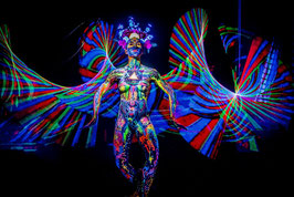 Body Light Painting Performance