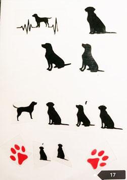 """Bügelbilder Set  Nr. 17 """"Labrador """""""