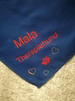 Halstuch , Therapiehund Mala ...